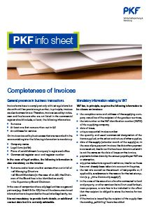 Completeness of Invoices brochure