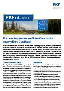 PKF info sheet documentary evidence